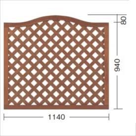 タカショー プロラフィードアーチパネル(M) W1140×H940/1020mm 『ラチス 木調フェンス 柵』