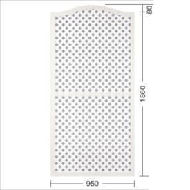 タカショー e-プライバシーアーチWパネル(LL) W950×H1860/1940mm 『ラチス 木調フェンス 柵』