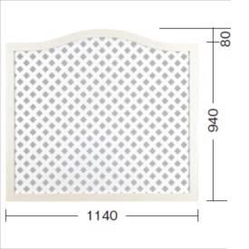 タカショー e-プライバシーアーチNパネル(M) W1140×H940/1020mm 『ラチス 木調フェンス 柵』