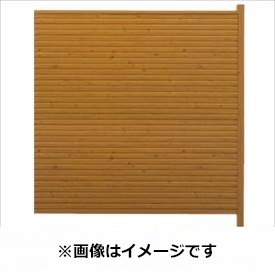 タカショー シンプルログセット5型(板貼タイプ) (横貼・柱見せ) 片面タイプ 追加型(片柱) T-1800 『木調フェンス 柵』 T-1800