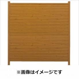 タカショー シンプルログセット5型(板貼タイプ) (横貼・柱見せ) 両面タイプ 基本型(両柱) K-1800 『木調フェンス 柵』 K-1800