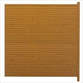 タカショー シンプルログセット6型(格子タイプ) (横貼・柱見せ) 両面タイプ 追加型(片柱) T-1800 『木調フェンス 柵』 T-1800