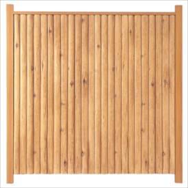 タカショー エバーこだわりログセット1型 片面タイプ 基本型(両柱) K-1800 『木調フェンス 柵』 K-1800