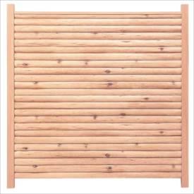 タカショー エバーこだわりログセット3型 片面タイプ 基本型(両柱) K-1800 『木調フェンス 柵』 K-1800
