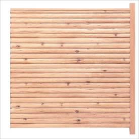 タカショー エバーこだわりログセット3型 片面タイプ 追加型(片柱) T-1800 『木調フェンス 柵』 T-1800