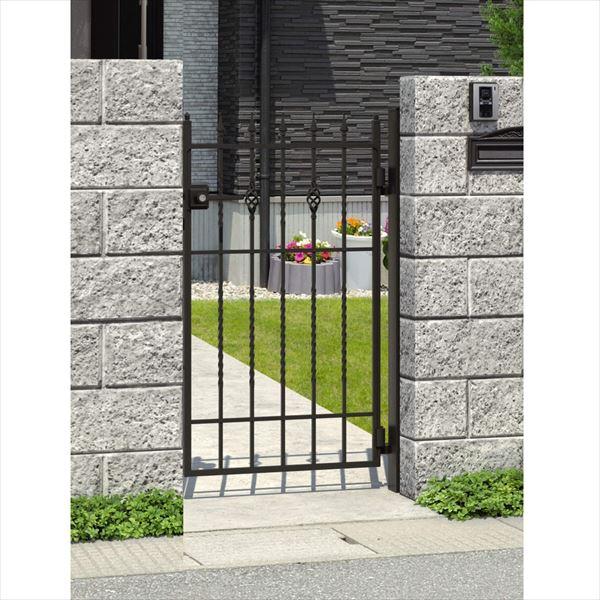 三協アルミ キャスタイル1型 アルミ鋳物門扉 0712 片開きセット 門柱タイプ 門柱タイプ