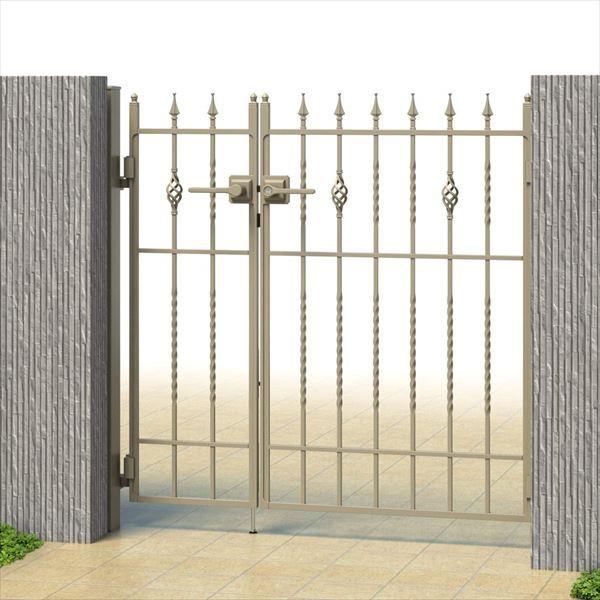 三協アルミ キャスタイル1型 アルミ鋳物門扉 0916 親子開きセット 門柱タイプ 門柱タイプ