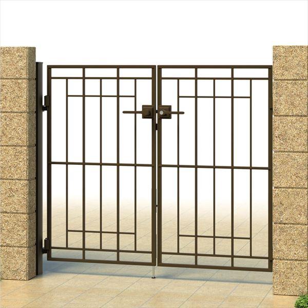 三協アルミ キャスタイル2型 アルミ鋳物門扉 0812 両開きセット 門柱タイプ 門柱タイプ