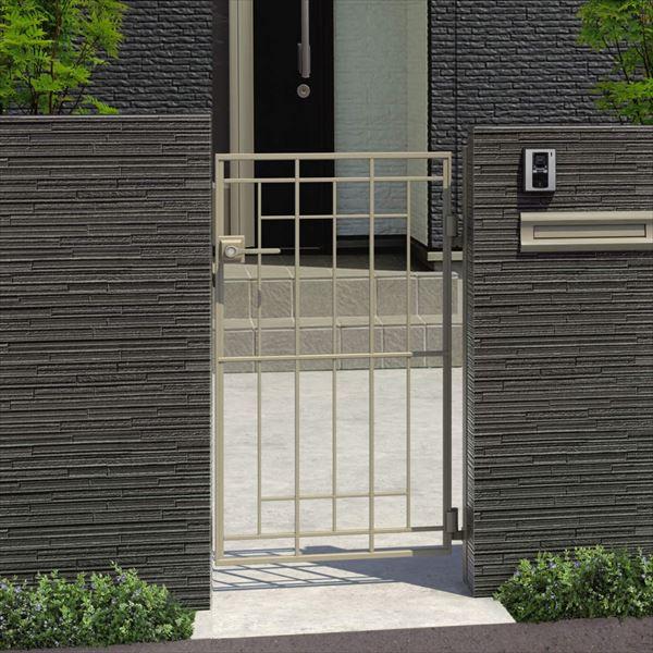 三協アルミ キャスタイル2型 アルミ鋳物門扉 0814 片開きセット 門柱タイプ 門柱タイプ
