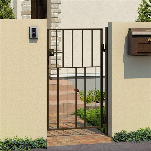 三協アルミ キャスタイル3型 アルミ鋳物門扉 0812 片開きセット 門柱タイプ 門柱タイプ