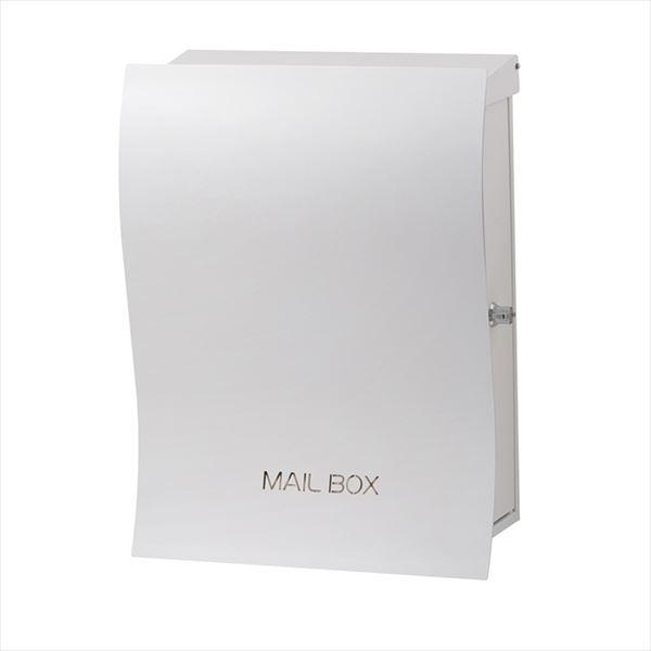 <title>送料無料 オンリーワン 品質保証 ウェーブが作り出すシルエットが美しい ナミプラスアール 壁付け ホワイト スレンド KS1-B139D 郵便ポスト 大型配達物対応</title>