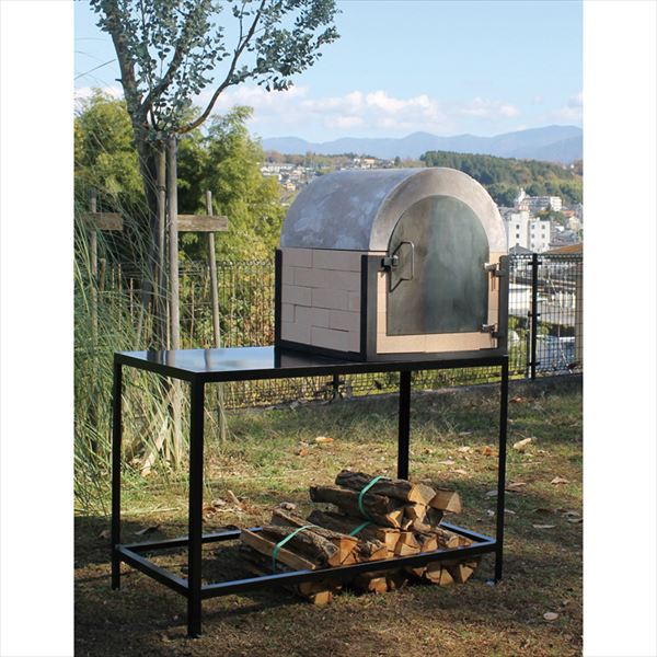 オンリーワン ピザ窯 ドーム型ピザ釜 本体+専用テーブル+追加棚+大理石板セット 『荷下ろしの手伝いが必要』 『屋外用ピザ釜 ピザ窯』