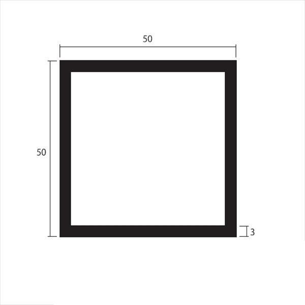安田株式会社 一般形材 アルミ等辺角パイプ 定尺 L=4,000 3.0×50×50(mm) 『外構DIY部品』 シルバー