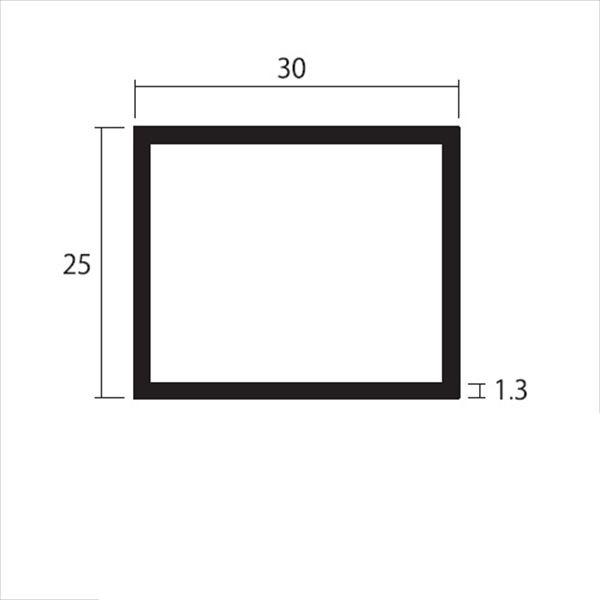 安田株式会社 一般形材 アルミ不等辺角パイプ 定尺 L=4,000 1.3×30×25(mm) 『外構DIY部品』 シルバー
