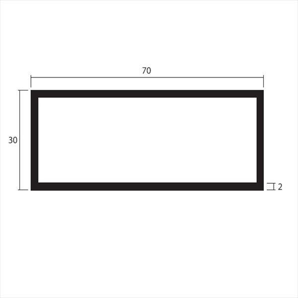 安田株式会社 一般形材 アルミ不等辺角パイプ 定尺 L=4,000 2.0×70×30(mm) 『外構DIY部品』