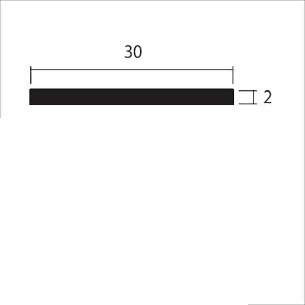 安田株式会社 一般形材 アルミフラットバー 定尺 L=4,000 2×30(mm) 『外構DIY部品』