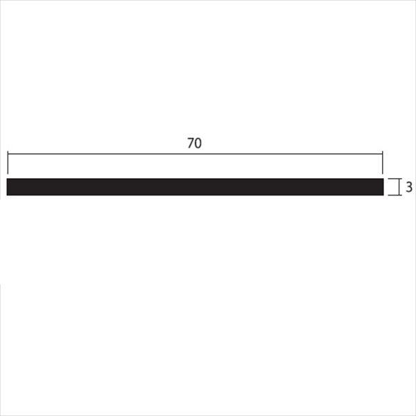 安田株式会社 一般形材 アルミフラットバー 定尺 L=4,000 3×70(mm) 『外構DIY部品』 シルバー
