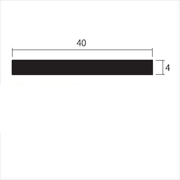安田株式会社 一般形材 アルミフラットバー 定尺 L=4,000 4×40(mm) 『外構DIY部品』 シルバー