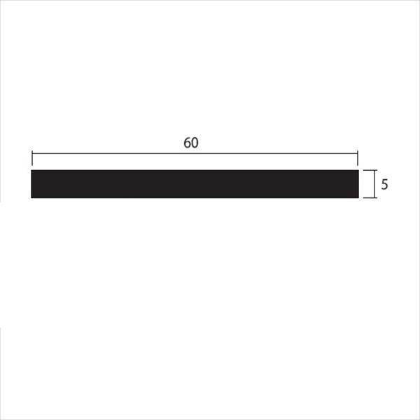 安田株式会社 一般形材 アルミフラットバー 定尺 L=4,000 5×60(mm) 『外構DIY部品』 シルバー