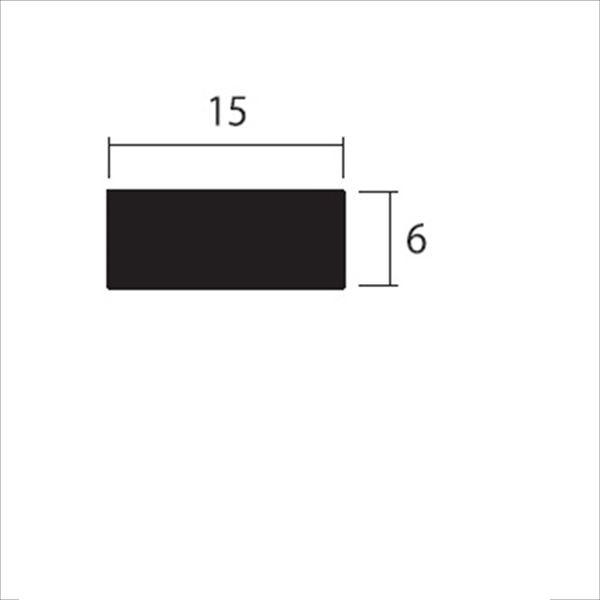 安田株式会社 一般形材 アルミフラットバー 定尺 L=4,000 6×15(mm) 『外構DIY部品』