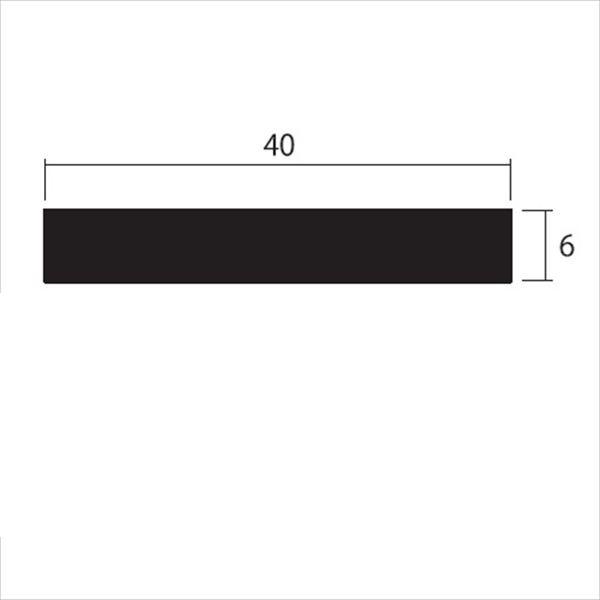 安田株式会社 一般形材 アルミフラットバー 定尺 L=4,000 6×40(mm) 『外構DIY部品』