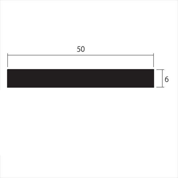 安田株式会社 一般形材 アルミフラットバー 定尺 L=4,000 6×50(mm) 『外構DIY部品』 シルバー