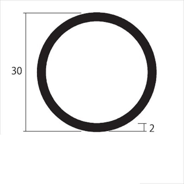 安田株式会社 一般形材 アルミ丸パイプ 定尺 L=4,000 2.0×30(mm) 『外構DIY部品』 シルバー