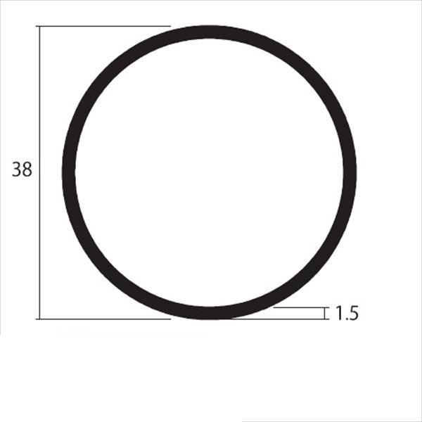安田株式会社 一般形材 アルミ丸パイプ 定尺 L=4,000 1.5×38(mm) 『外構DIY部品』 シルバー