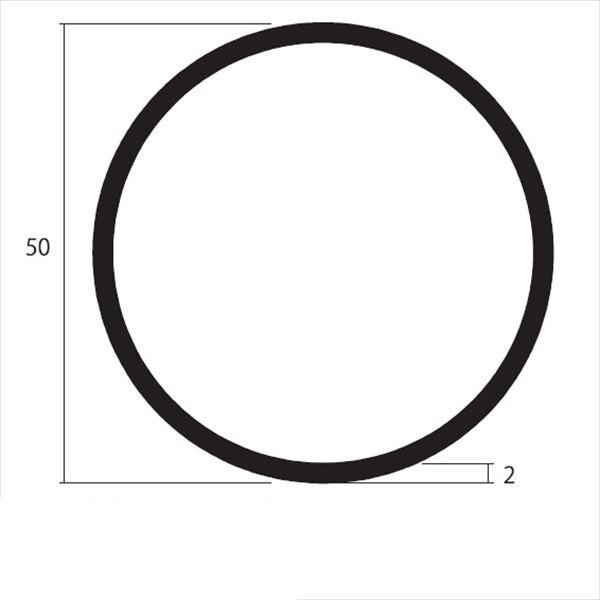 安田株式会社 一般形材 アルミ丸パイプ 定尺 L=4,000 2.0×50(mm) 『外構DIY部品』 シルバー