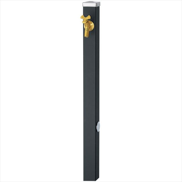 ユニソン スプレスタンド60 左右仕様 蛇口(ゴールド)1個セット 『立水栓セット(蛇口付き)』  マットブラック