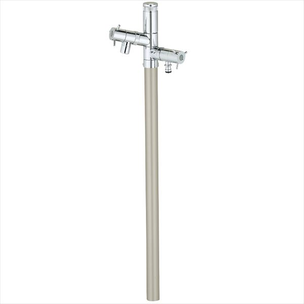 ユニソン エインスタンド 2口 左右仕様 L1000 『立水栓セット(蛇口付き)』 日本水道協会認定品 シャンパンゴールド