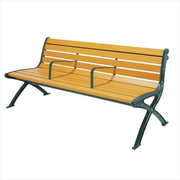 ミヅシマ工業 セパレートベンチSB1 背付 SB1-LW 244-0073 『ガーデンベンチ・公共向け』