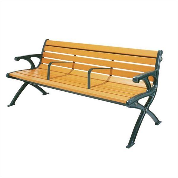 ミヅシマ工業 セパレートベンチSB1 背肘付 SB1-LWE 244-0075 『ガーデンベンチ・公共向け』