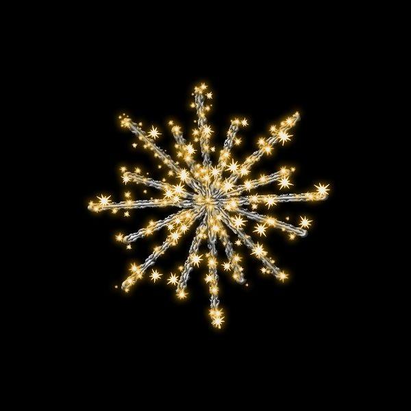 タカショー MKイルミネーション 3Dモチーフ スノーボール 60cm MKJ-709C #69488400 『エクステリア照明 ライト』 電球色