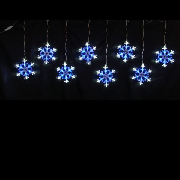 コロナ産業 LEDスノーフレークモチーフ スノーフレークつらら白・青色 LDCM066 『イルミネーションライト』 白&青色