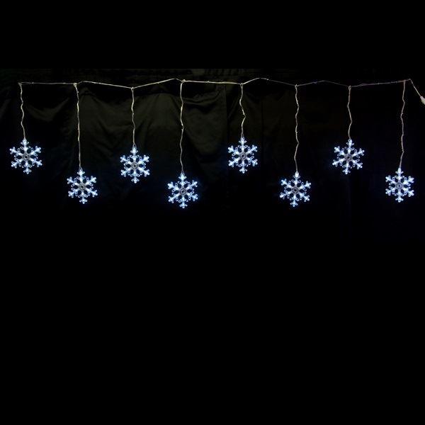 コロナ産業 LEDスノーフレークモチーフ スノーフレークつらら白色 8連 LDCM070 『イルミネーションライト』 白