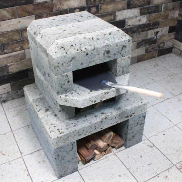 ニッコー 大谷ストーンオーブンシリーズ ミニピザ窯 本体+ミニ脚部セット 小 OPK-3PZ/OPK-C 『パレットで配送 荷下ろしの手伝いが必要』 『屋外用ピザ釜 ピザ窯 ニッコーエクステリア』