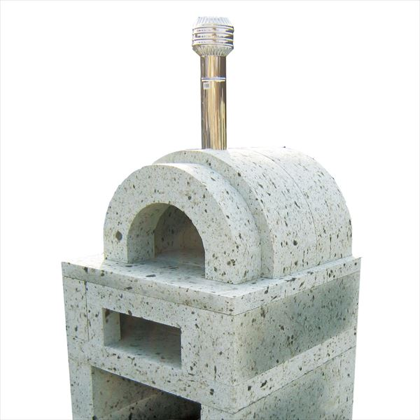 ニッコー 大谷石ピザ窯 二層式・丸型 ダイヤ引き仕上 OPK-2BP 『パレットで配送 荷下ろしの手伝いが必要』 『屋外用ピザ釜 ピザ窯 ニッコーエクステリア』