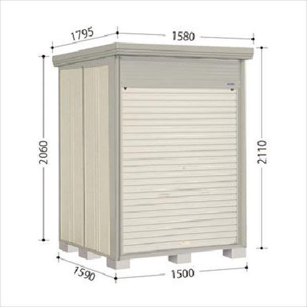 タクボ物置 NDE/ストックマン シャッター扉タイプ NDE-1515 一般型 標準屋根 『追加金額で工事も可能』 『シャッター扉式中型・大型物置』