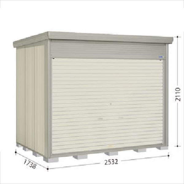 タクボ物置 NDE/ストックマン シャッター扉タイプ NDE-2517 一般型 標準屋根 『追加金額で工事も可能』 『シャッター扉式中型・大型物置』