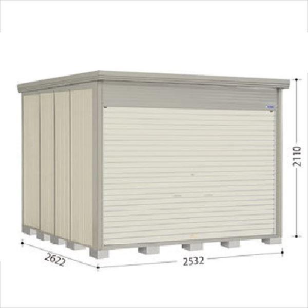タクボ物置 NDE/ストックマン シャッター扉タイプ NDE-S2526 多雪型 標準屋根 『追加金額で工事も可能』 『シャッター扉式中型・大型物置』