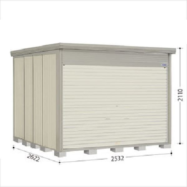 タクボ物置 NDE/ストックマン シャッター扉タイプ NDE-Z2526 一般型 結露減少屋根 『追加金額で工事も可能』 『シャッター扉式中型・大型物置』