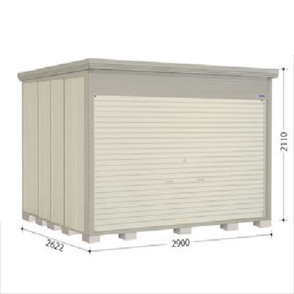タクボ物置 NDE/ストックマン シャッター扉タイプ NDE-S2926 多雪型 標準屋根 『追加金額で工事も可能』 『シャッター扉式中型・大型物置』