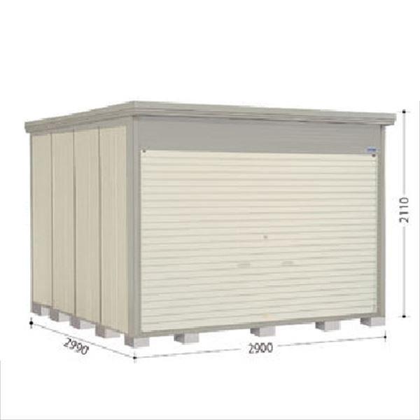 タクボ物置 NDE/ストックマン シャッター扉タイプ NDE-S2929 多雪型 標準屋根 『追加金額で工事も可能』 『シャッター扉式中型・大型物置』