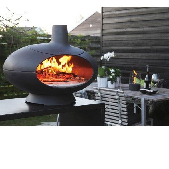 ビーライフエス モルソーアウトドアリビング アウトドアオーブン+ドアセット #5509328 『薪文化の発達したデンマーク製 モルソーリビング 屋外用ピザ窯』