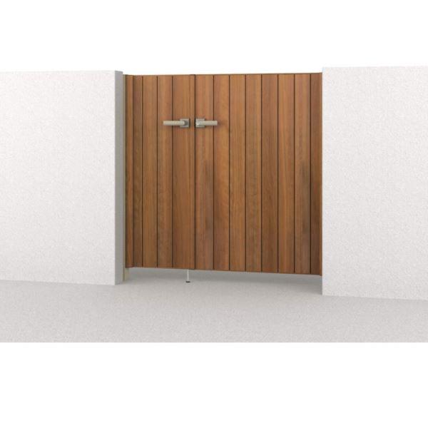三協アルミ 腐らない木調アルミ形材門扉 フレイナ 木調タイプ 柱:アルミ色 内開き門柱タイプ TM型 04・0812 親子開きセット