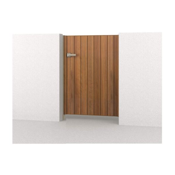 腐らない木調アルミ形材門扉 三協アルミ フレイナ TM型 片開きセット 内開き門柱タイプ 0916 木調タイプ