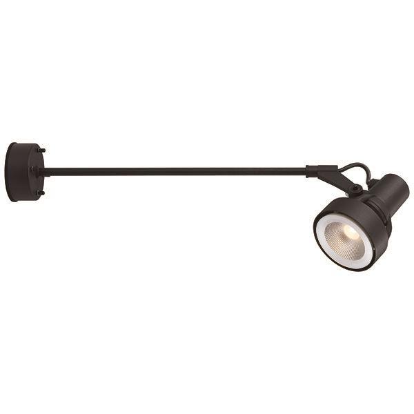 タカショー ウォールスポットライト 100V シンプルLED スポットライト3型 アーム L600 中角 照明:電球色 HFB-D22K #71466700 ブラック