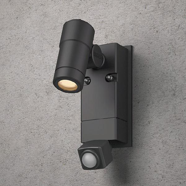 タカショー センサーライト ローボルト ウォールスポットライト オプティS 人感センサー付 HBA-D19K #73609600 ブラック