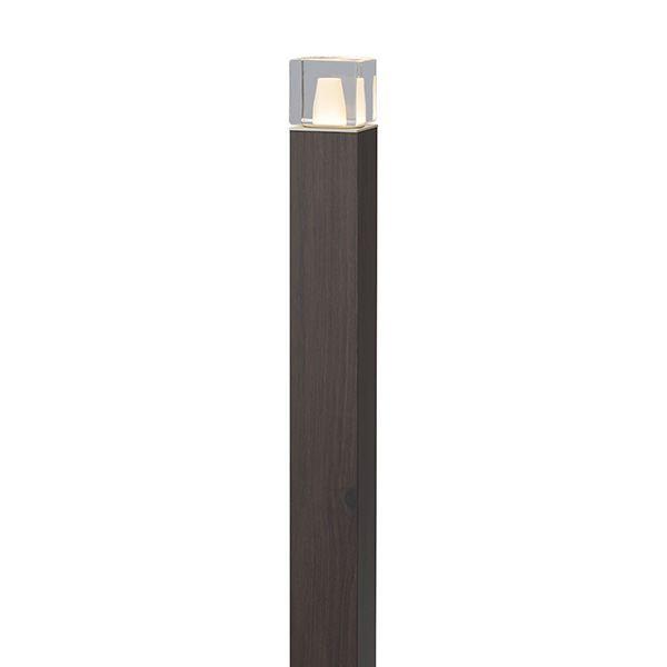 タカショー エバーアートポールライト 6型 100V 拡散光 ガラスブロック HFD-D64P #75115000 ダークパイン
